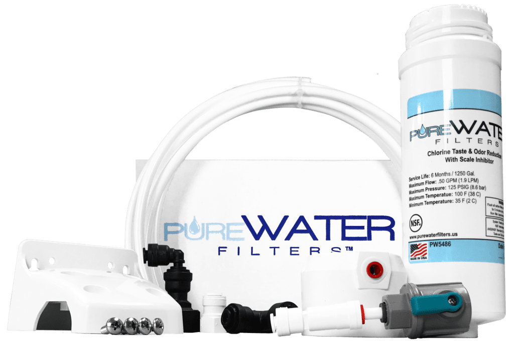 PureWater Filters kq8a Keurig Direct Water Line Filter Kit for Keurig Coffee Brewers