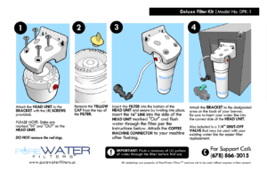 Keurig KQ8A Water Filter Kit Instructions PureWater Filters Deluxe KQ8 5572