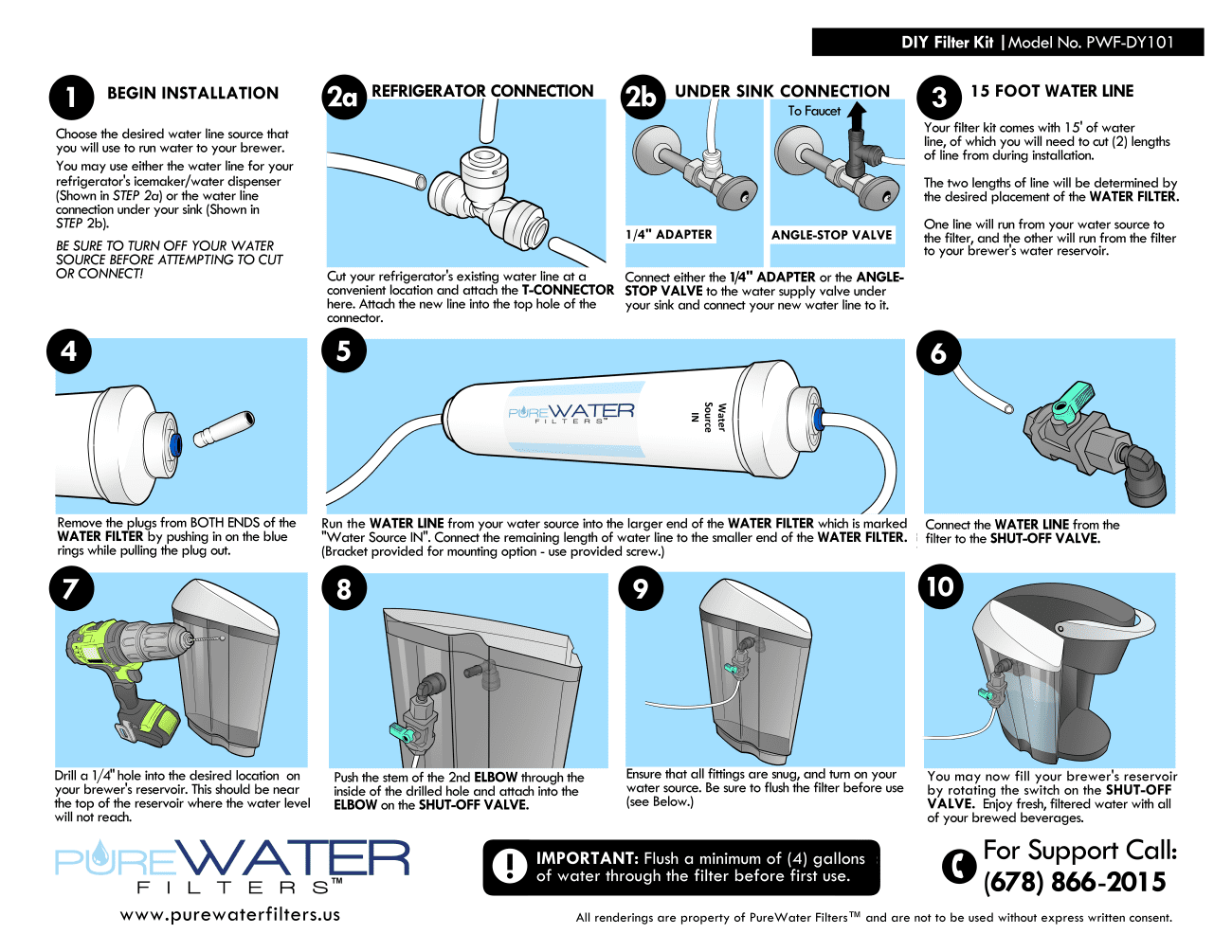 Filtered Water Refill Do It Yourself Kit For Non