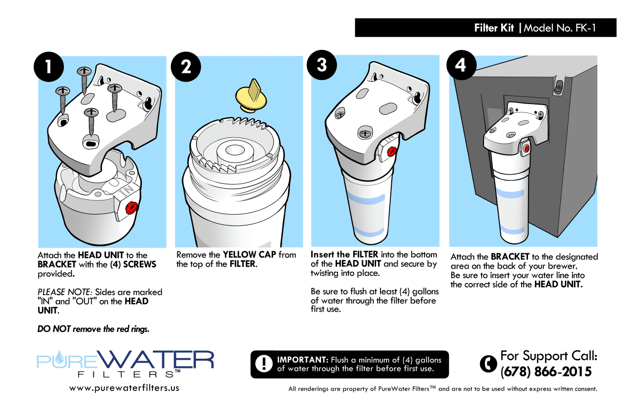 Keurig Water Filter Kit Instructions PureWater Filters KQ8A 5572