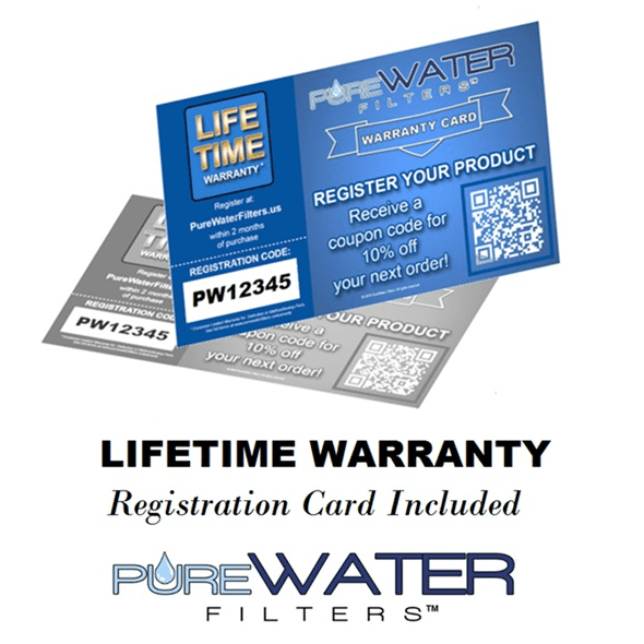 PureWater Filters Warranty Card