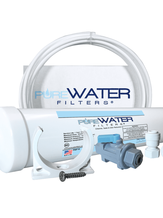 Inline Water Filter Kit for Refrigerators and Ice Makers by PureWater Filters PWRFK-4