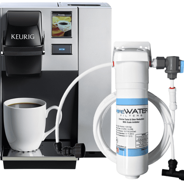 k150 with keurig plumb kit and super deluxe water filter kit 5572 kq8a